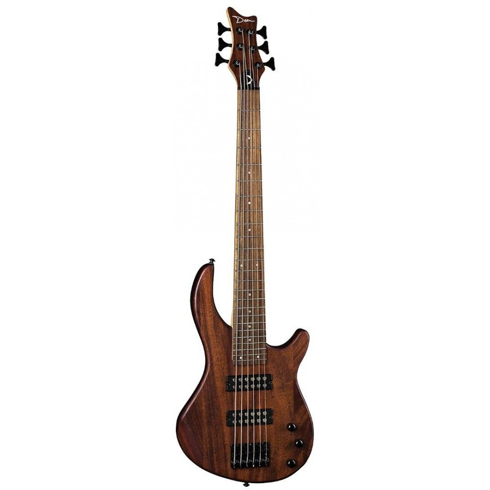 dean edge 1 6 string electric bass guitar with active eq in vintage mahogany. Black Bedroom Furniture Sets. Home Design Ideas