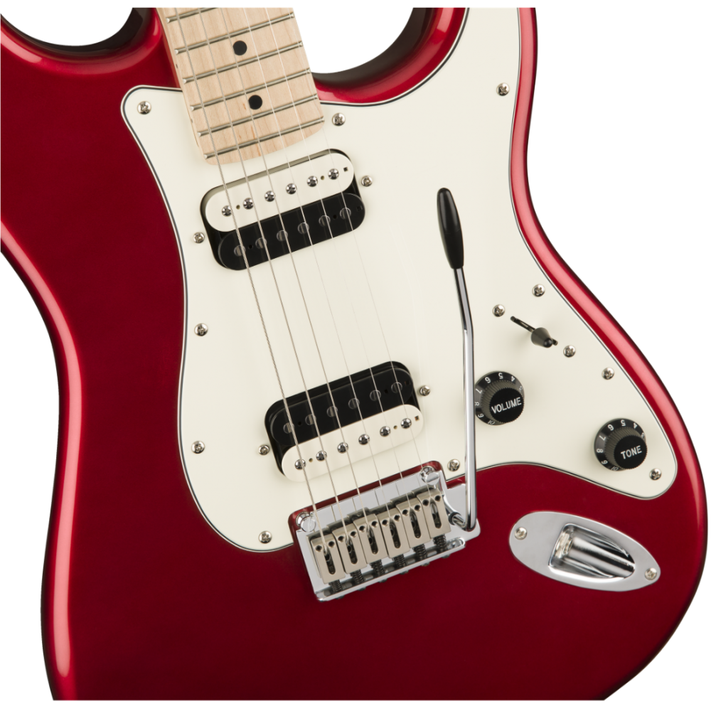 fender squier contemporary stratocaster humbucker metallic red electric guitar. Black Bedroom Furniture Sets. Home Design Ideas