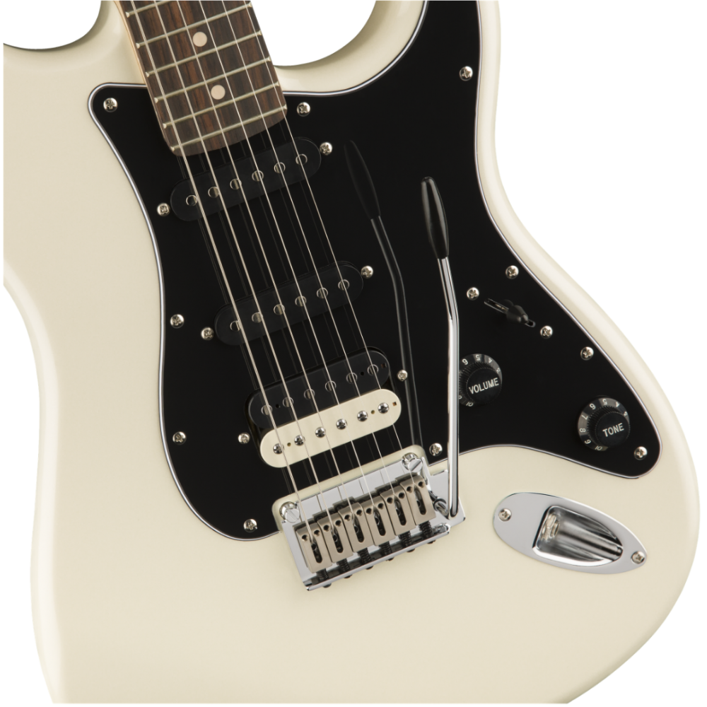 fender squier contemporary stratocaster hss pearl white guitar maple fingerboard. Black Bedroom Furniture Sets. Home Design Ideas