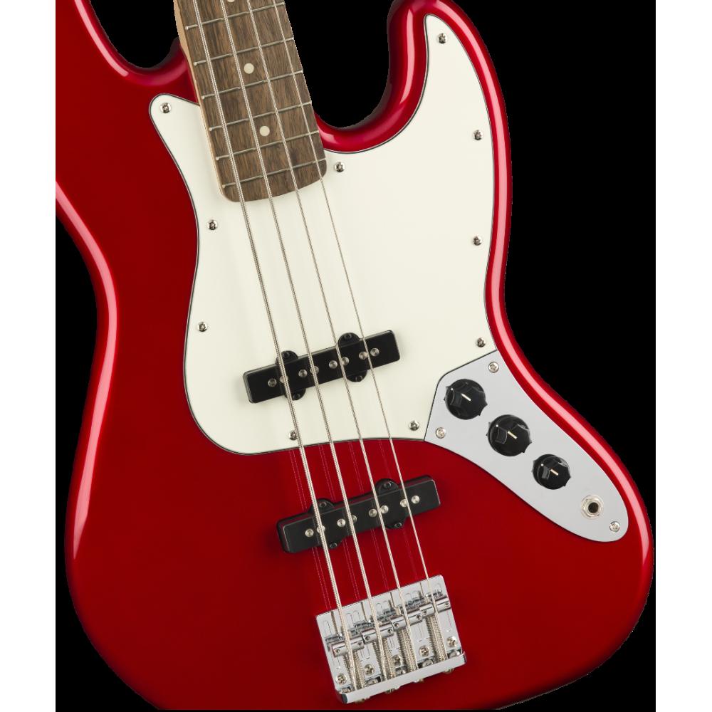 fender squier contemporary jazz bass laurel fingerboard metallic red. Black Bedroom Furniture Sets. Home Design Ideas