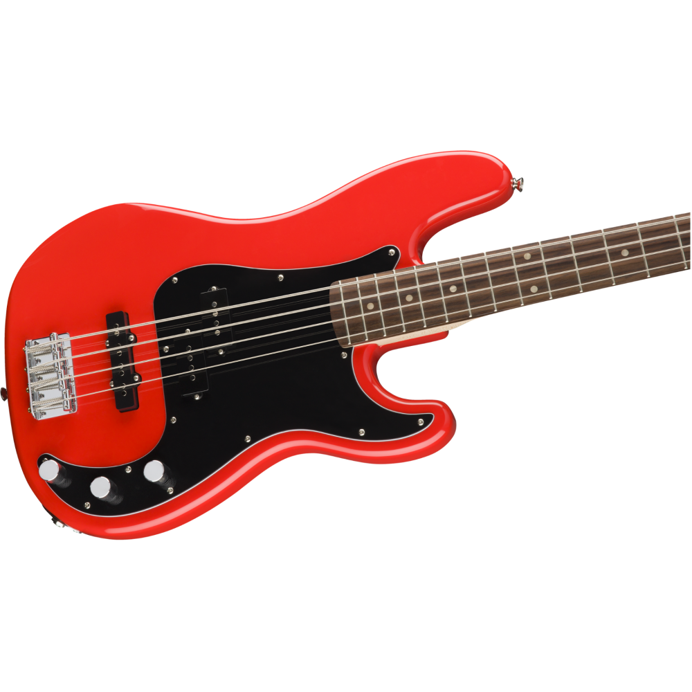fender squier affinity series 4 string precision p j electric bass in race red. Black Bedroom Furniture Sets. Home Design Ideas