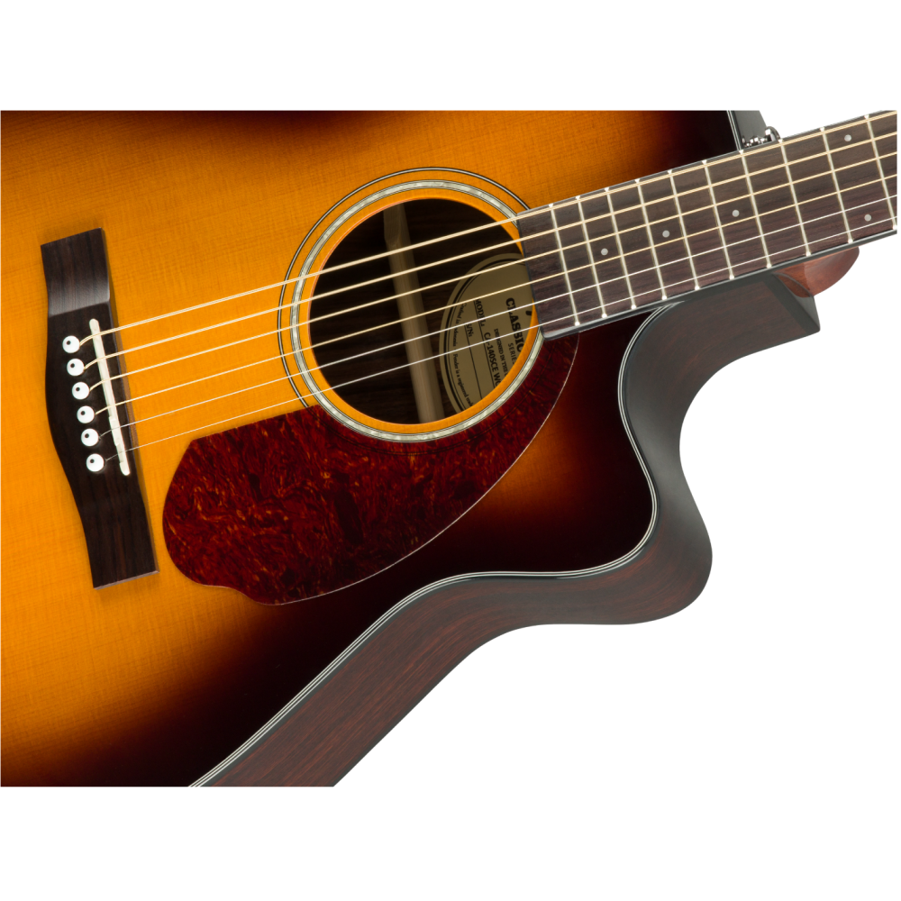 fender cc 140sce sb sunburst concert size acoustic electric guitar with case. Black Bedroom Furniture Sets. Home Design Ideas
