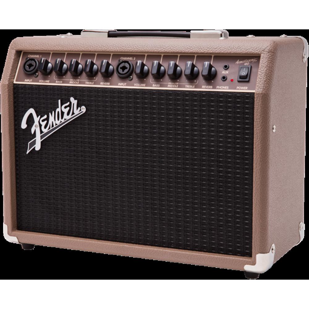 fender acoustasonic 40 40 watt combo acoustic guitar amplifier with dual input. Black Bedroom Furniture Sets. Home Design Ideas