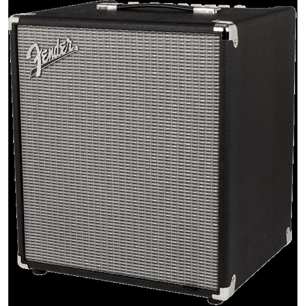 fender rumble 100 watt bass combo amp v3 120v black silver. Black Bedroom Furniture Sets. Home Design Ideas