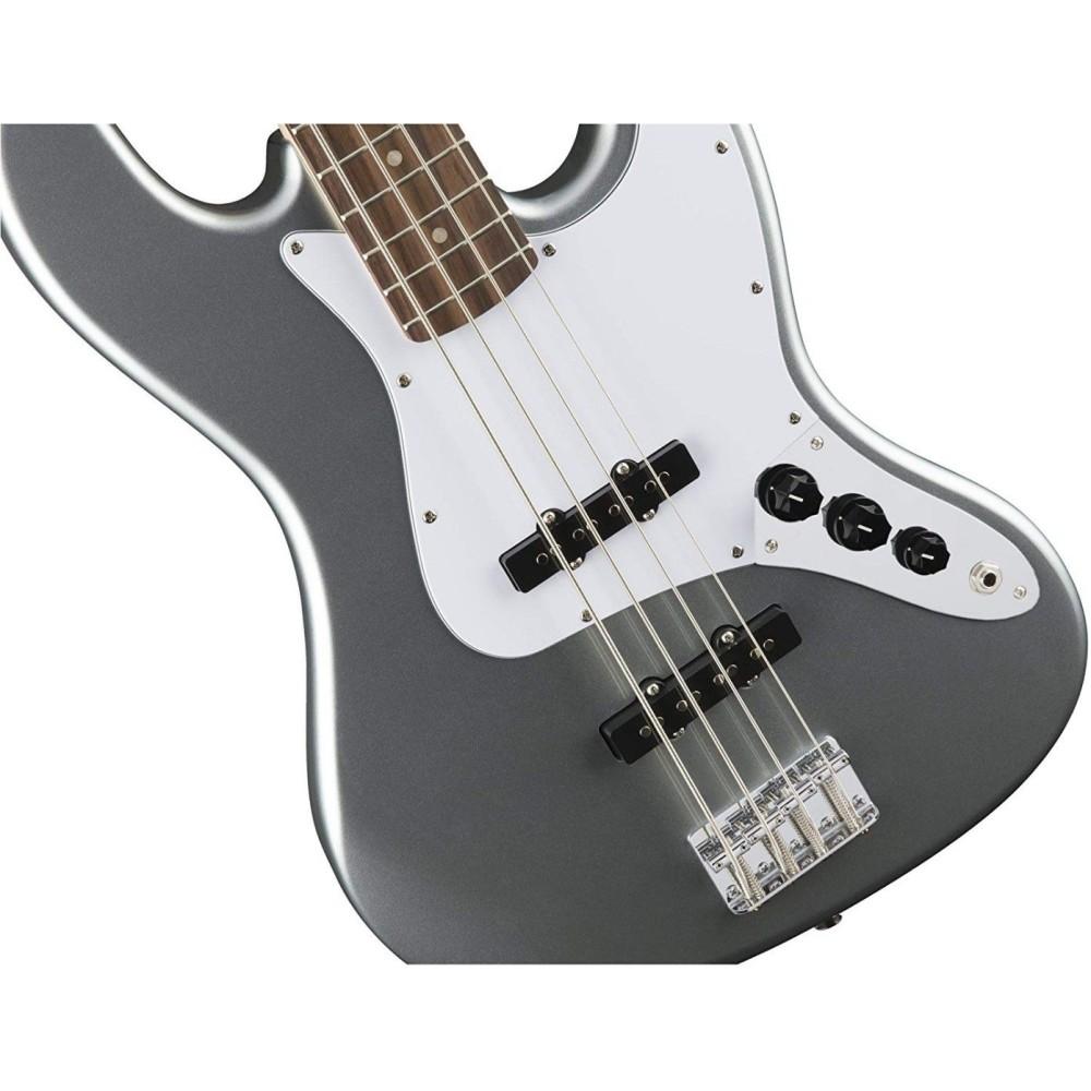 fender squier affinity series 4 string jazz j bass in slick silver 0370760581. Black Bedroom Furniture Sets. Home Design Ideas