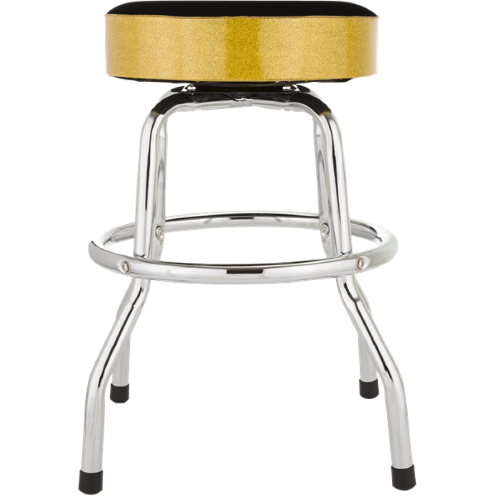 Terrific Fender Black And Gold Sparkle 24 Inch Barstool W Padded Seat Camellatalisay Diy Chair Ideas Camellatalisaycom