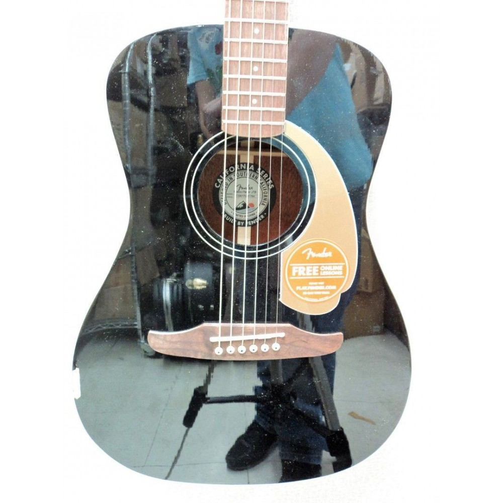 fender malibu player model electric acoustic guitar in jetty black so cool. Black Bedroom Furniture Sets. Home Design Ideas