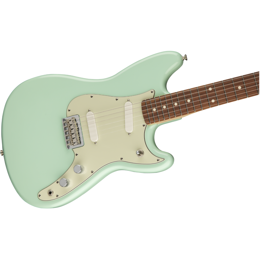 fender duo sonic pau ferro fingerboard surf green electric guitar mim. Black Bedroom Furniture Sets. Home Design Ideas