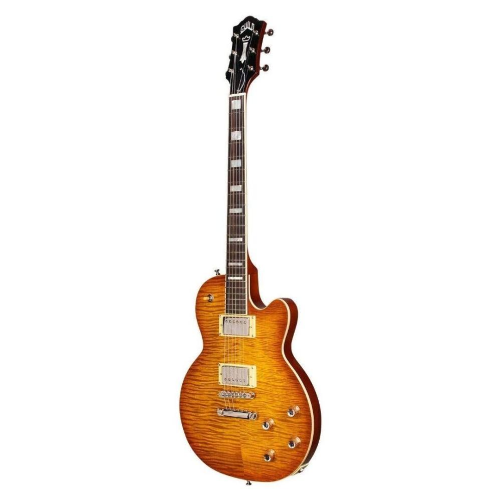 guild guitars bluesbird itb ice tea burst electric guitar with gig bag blem j638. Black Bedroom Furniture Sets. Home Design Ideas