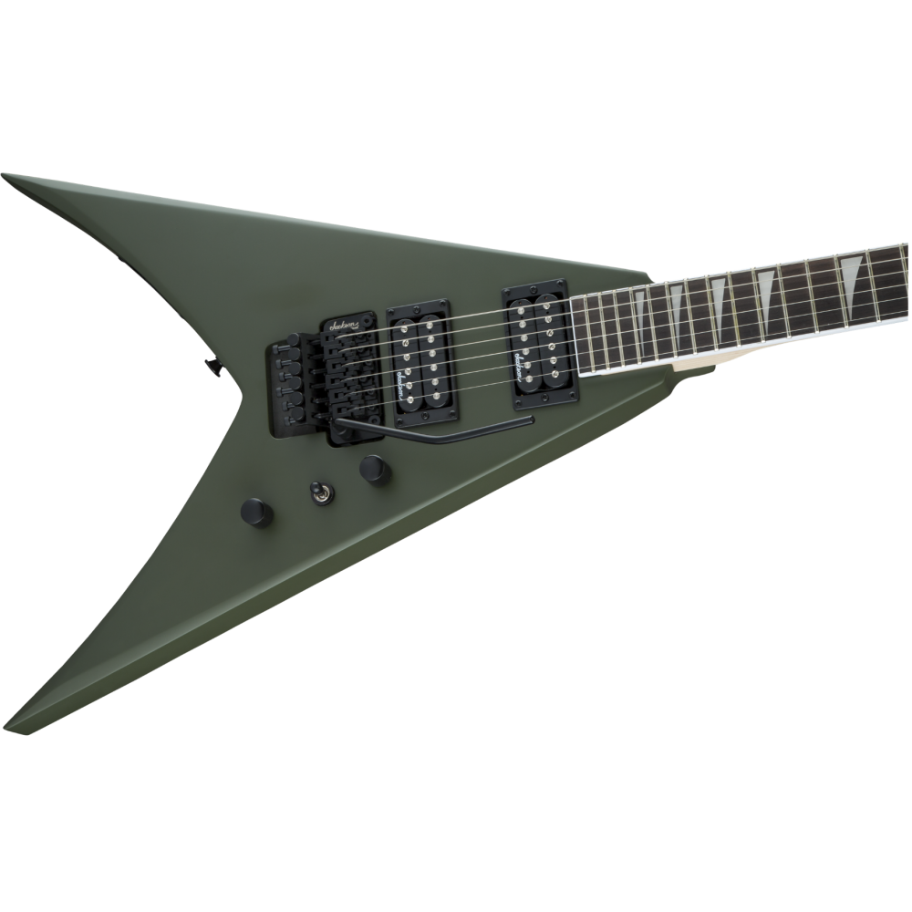 jackson js32 kv matte army drab king v electric guitar with floyd rose demo. Black Bedroom Furniture Sets. Home Design Ideas