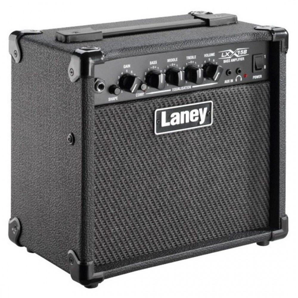 laney model lx15b electric bass guitar 2 x 5 combo 15 watt guitar amplifier. Black Bedroom Furniture Sets. Home Design Ideas