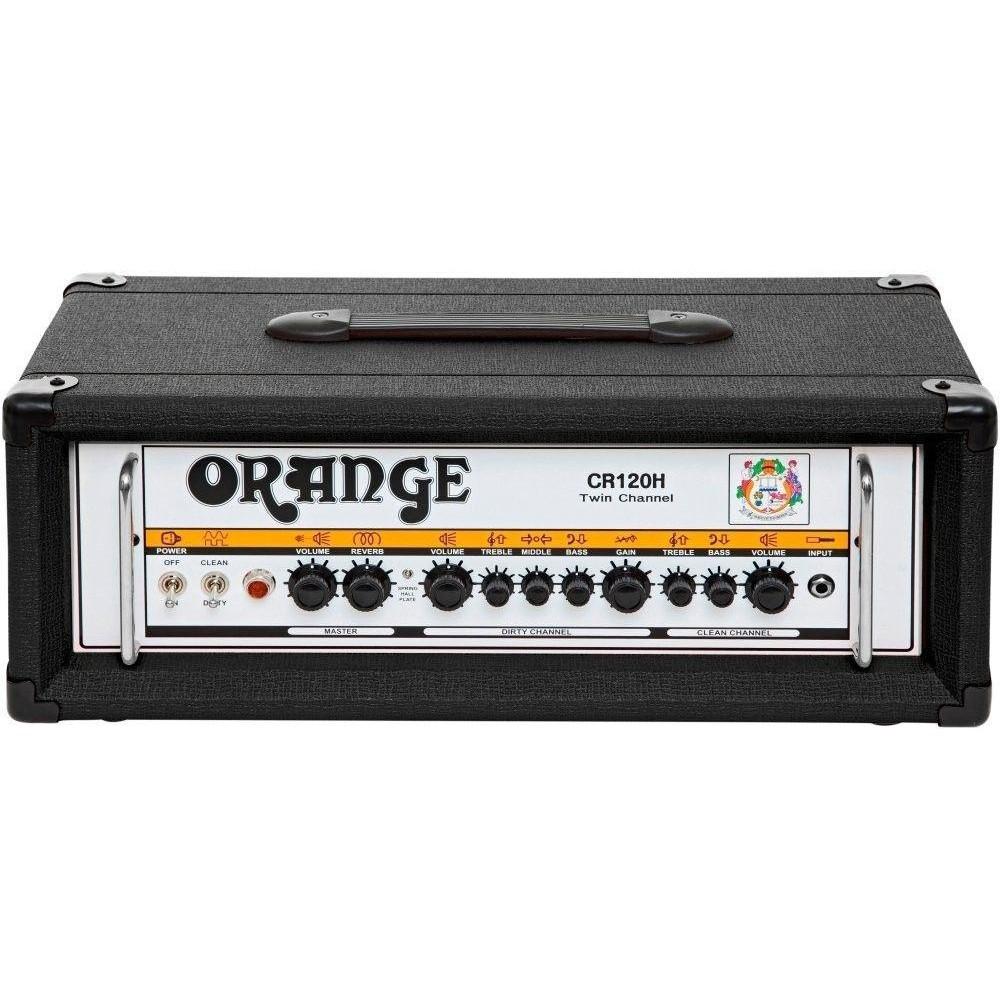 orange amplifiers model crush pro cr120h black 120w guitar amp head orange new. Black Bedroom Furniture Sets. Home Design Ideas