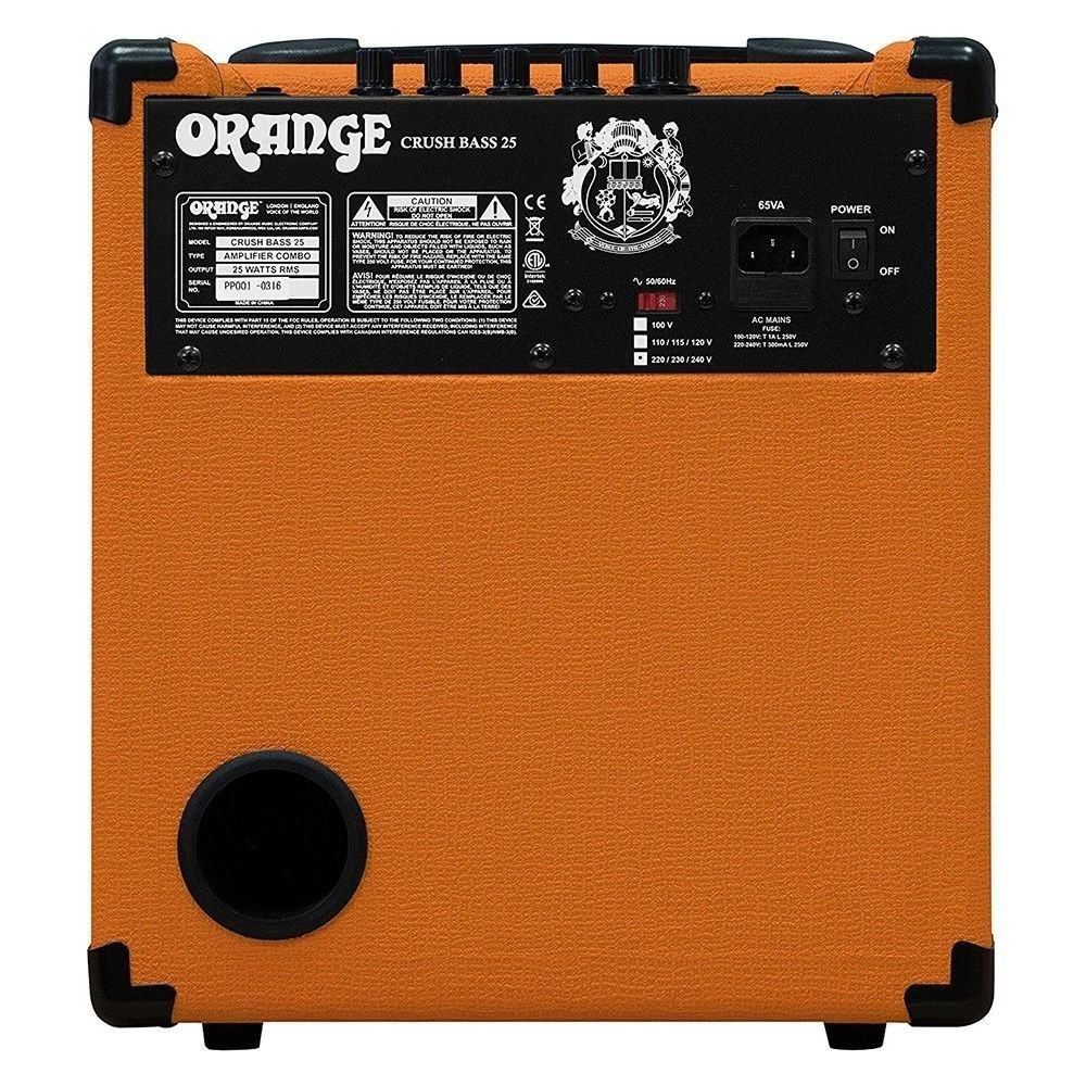 orange amps crush bass 25 combo amplifier solid state active 3 band eq 25w 1x8. Black Bedroom Furniture Sets. Home Design Ideas