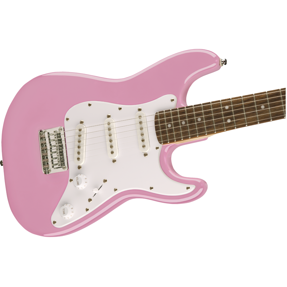 squier fender mini strat electric guitar v2 pink stratocaster 037012150. Black Bedroom Furniture Sets. Home Design Ideas