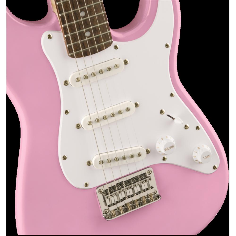 squier fender mini strat electric guitar v2 pink stratocaster 037012150. Black Bedroom Furniture Sets. Home Design Ideas