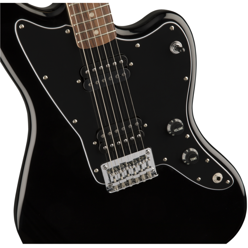 squier by fender affinity series jazzmaster hh black gloss electric guitar. Black Bedroom Furniture Sets. Home Design Ideas