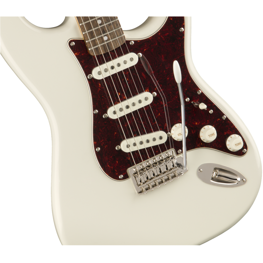 fender squier classic vibe 39 70s stratocaster electric guitar in olympic white. Black Bedroom Furniture Sets. Home Design Ideas
