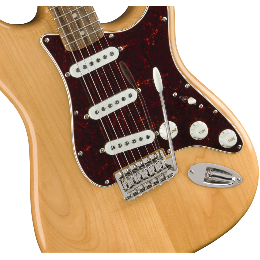 fender squier classic vibe 39 70s stratocaster electric guitar in natural finish. Black Bedroom Furniture Sets. Home Design Ideas