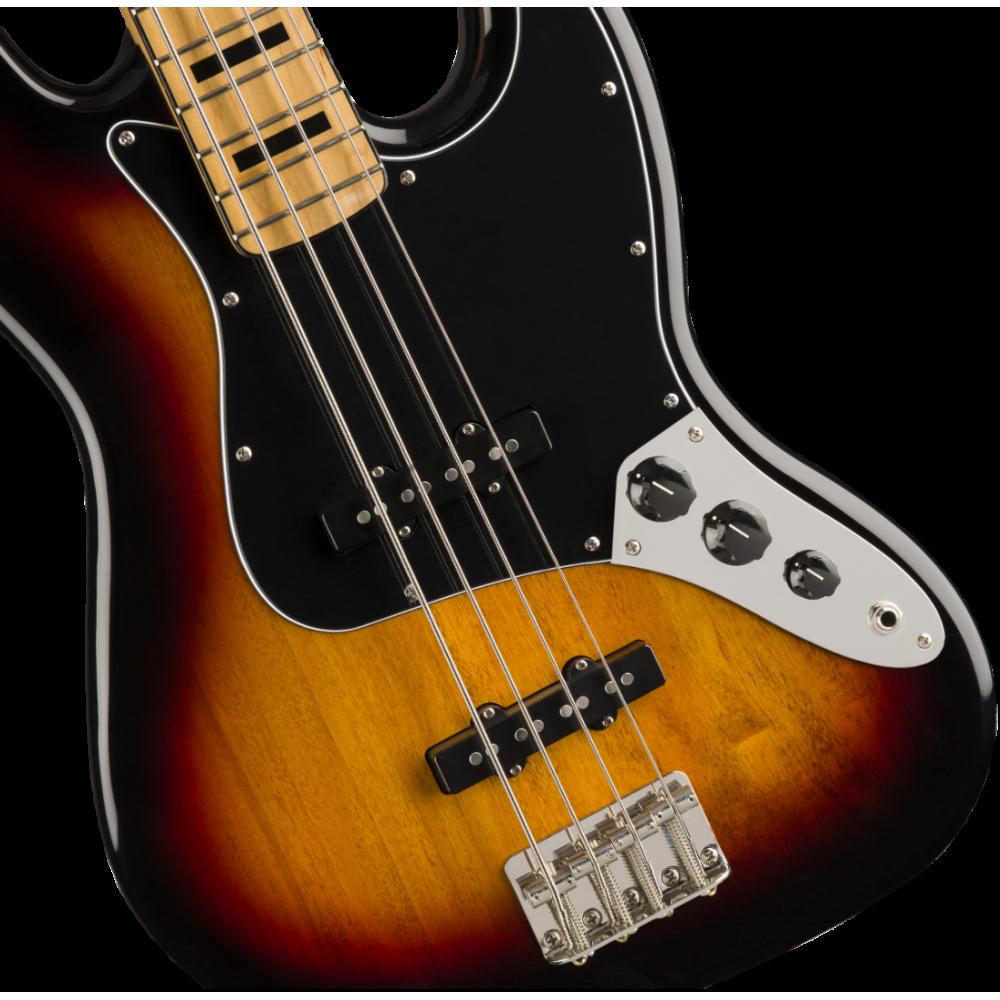 fender squier classic vibe 39 70s 4 string electric jazz bass 3 tone sunburst. Black Bedroom Furniture Sets. Home Design Ideas