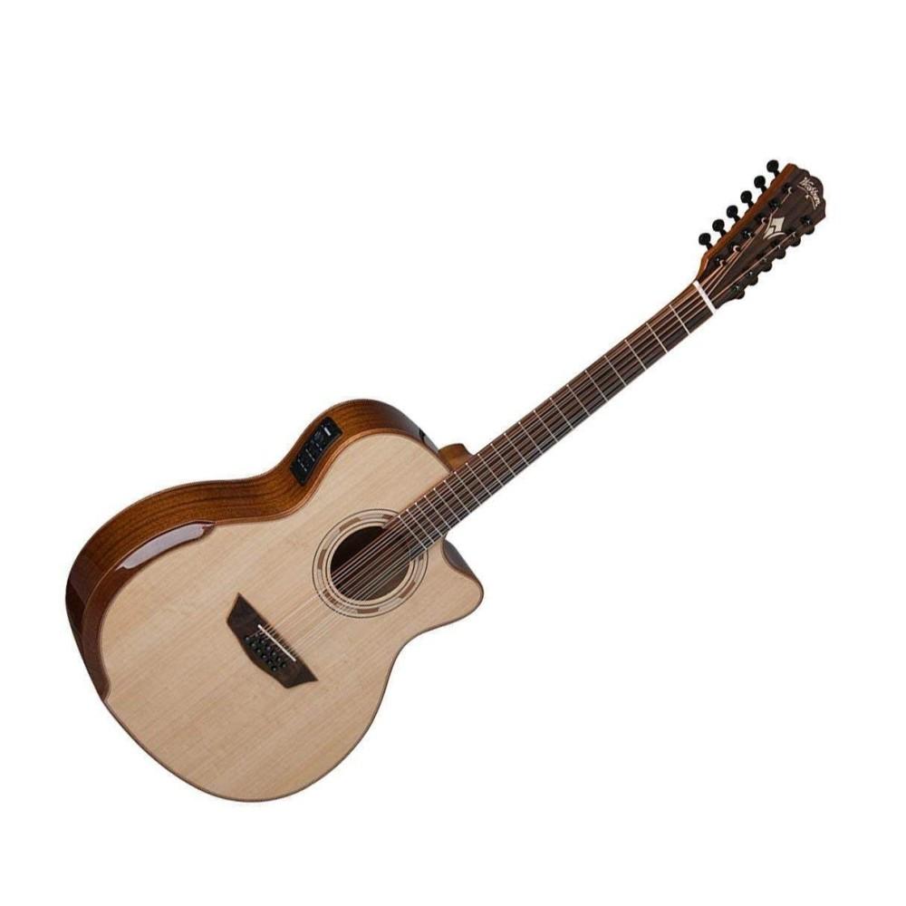 washburn wcg15sce12 12 string comfort series acoustic electric guitar blem. Black Bedroom Furniture Sets. Home Design Ideas