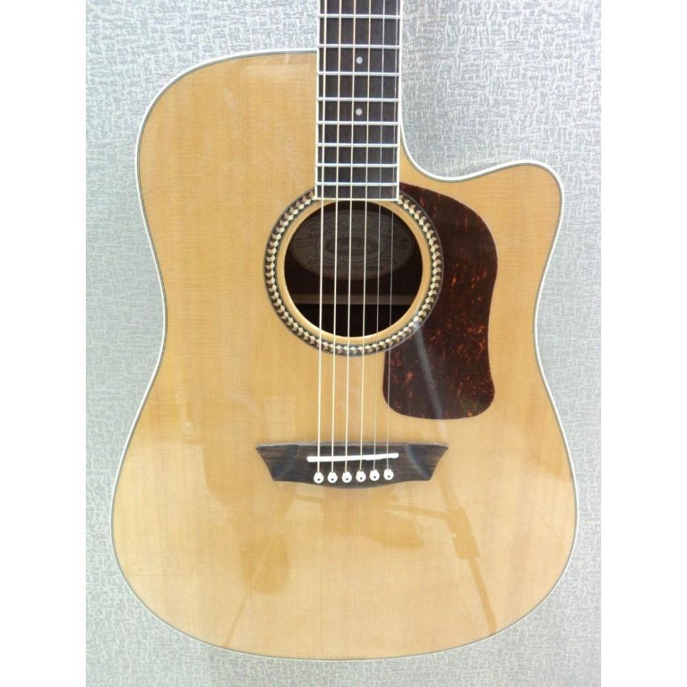washburn hd71sceg o solid cedar top dreadnought acoustic electric guitar. Black Bedroom Furniture Sets. Home Design Ideas