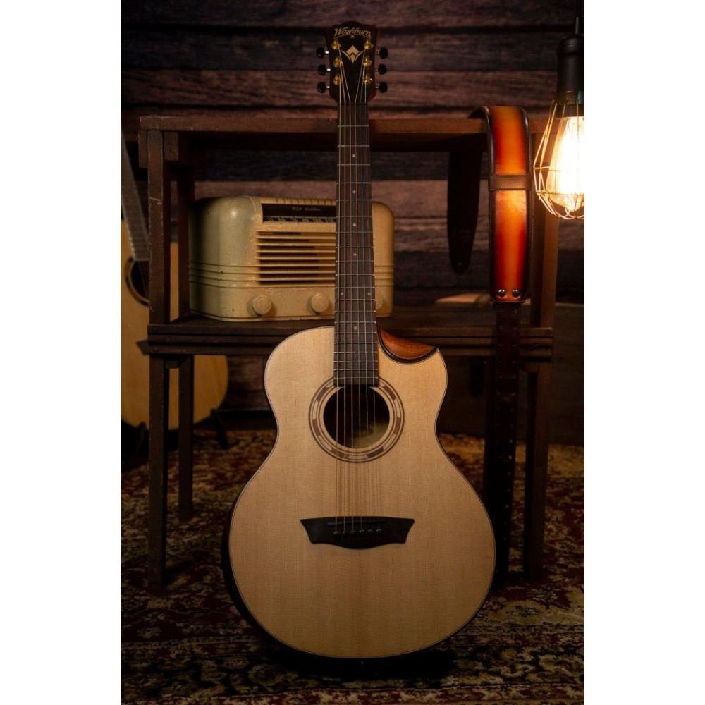 washburn wcgm15smk comfort series 3 4 size acoustic guitar blem. Black Bedroom Furniture Sets. Home Design Ideas