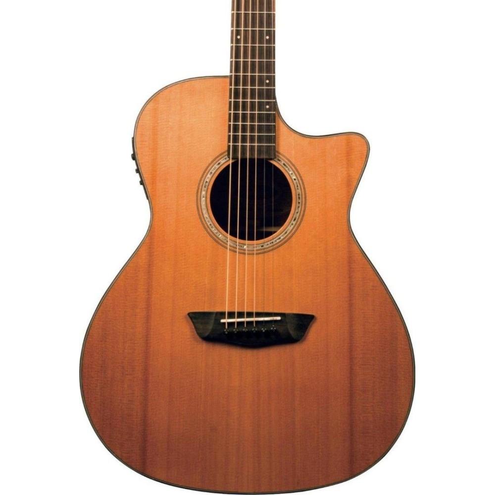 washburn wlg110swcek solid wood woodline acoustic electric guitar w hard case. Black Bedroom Furniture Sets. Home Design Ideas