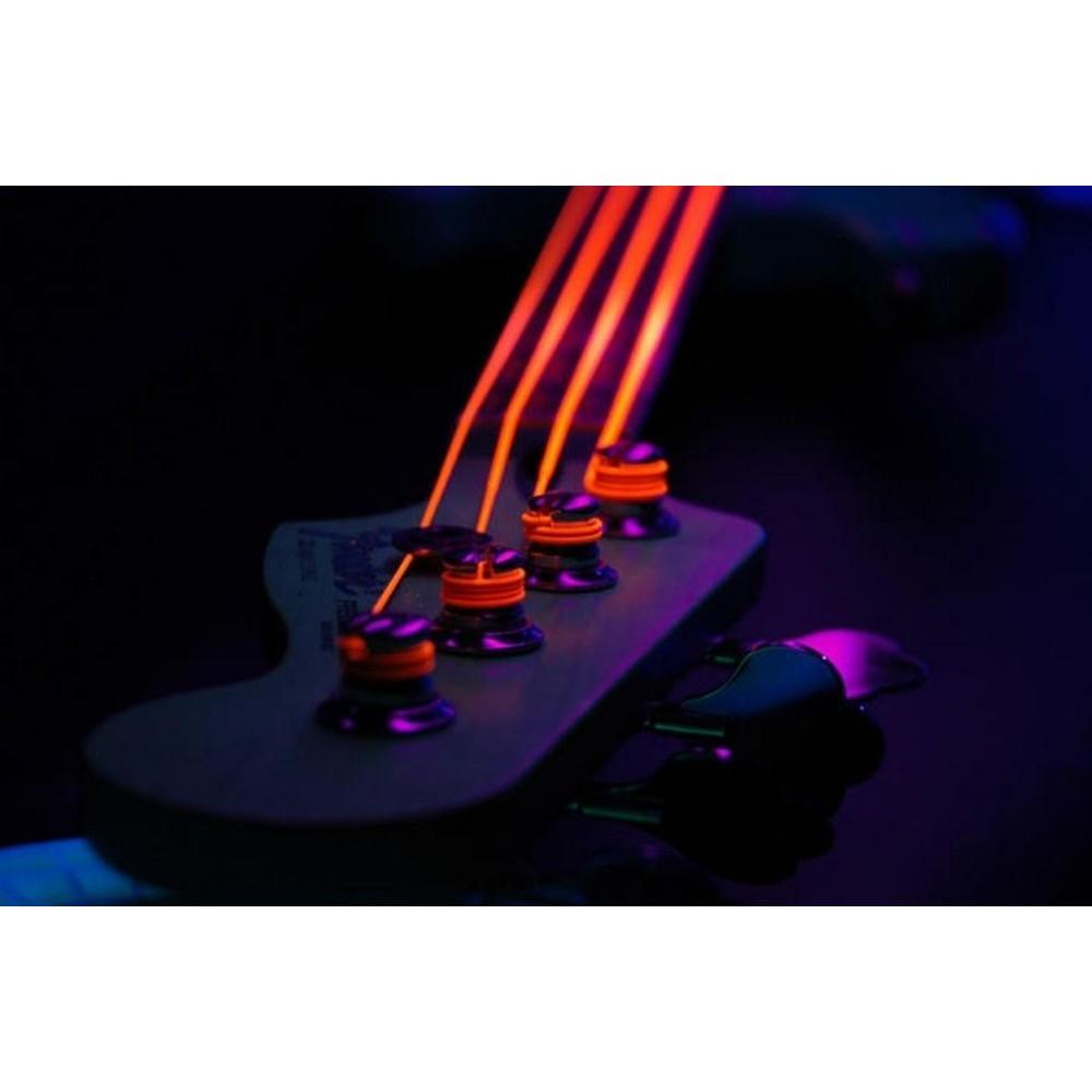 dr strings k3 coated neon orange med 4 string 45 105 bass strings 1 nob 45. Black Bedroom Furniture Sets. Home Design Ideas