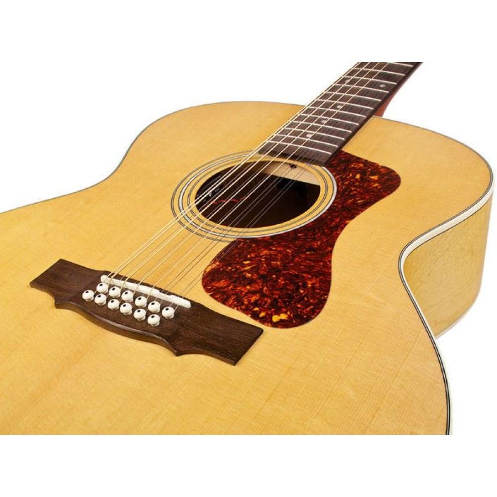 guild f2512e jumbo 12 string solid acoustic electric guitar blem. Black Bedroom Furniture Sets. Home Design Ideas
