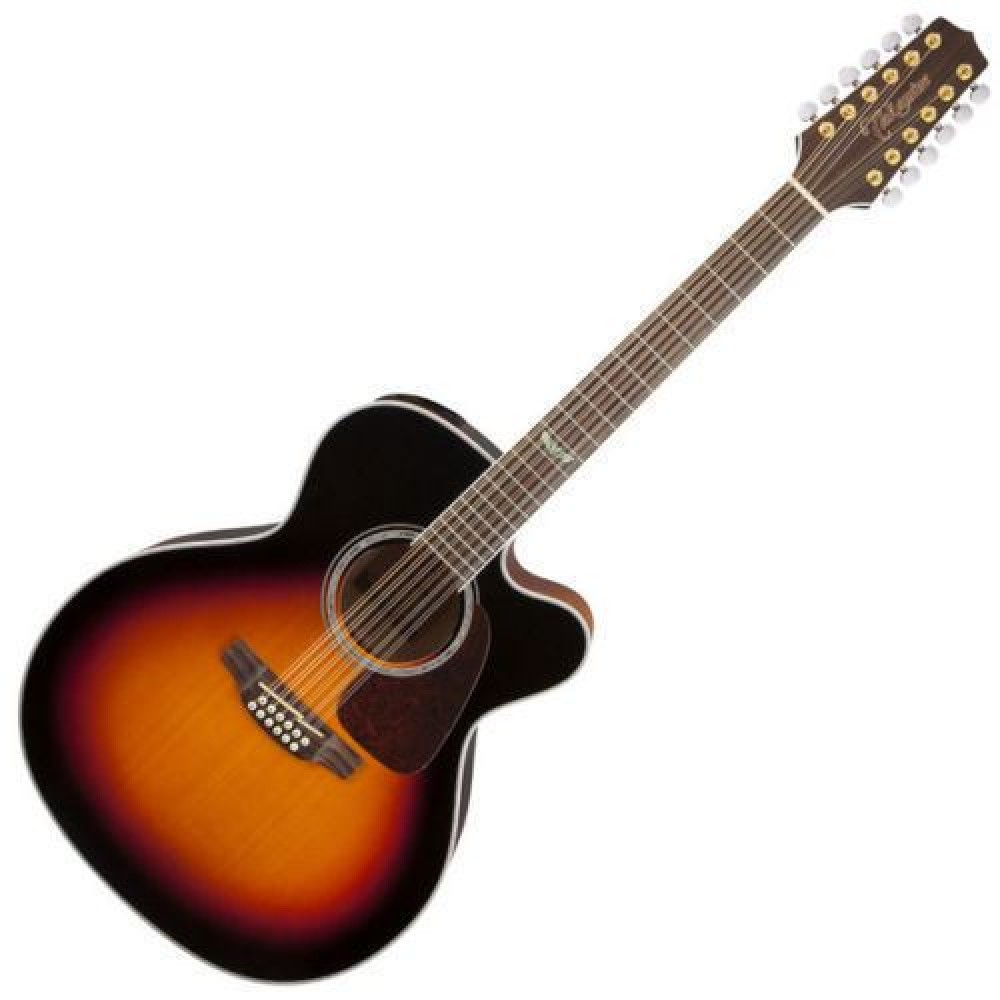 takamine gj72ce 12 bsb 12 string jumbo body acoustic electric guitar sunburst. Black Bedroom Furniture Sets. Home Design Ideas
