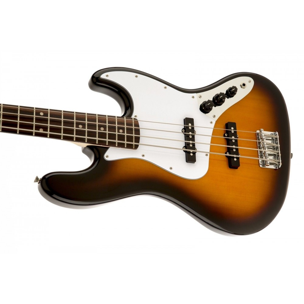 fender squier affinity series 4 string jazz j bass in brown sunburst 0310760532. Black Bedroom Furniture Sets. Home Design Ideas