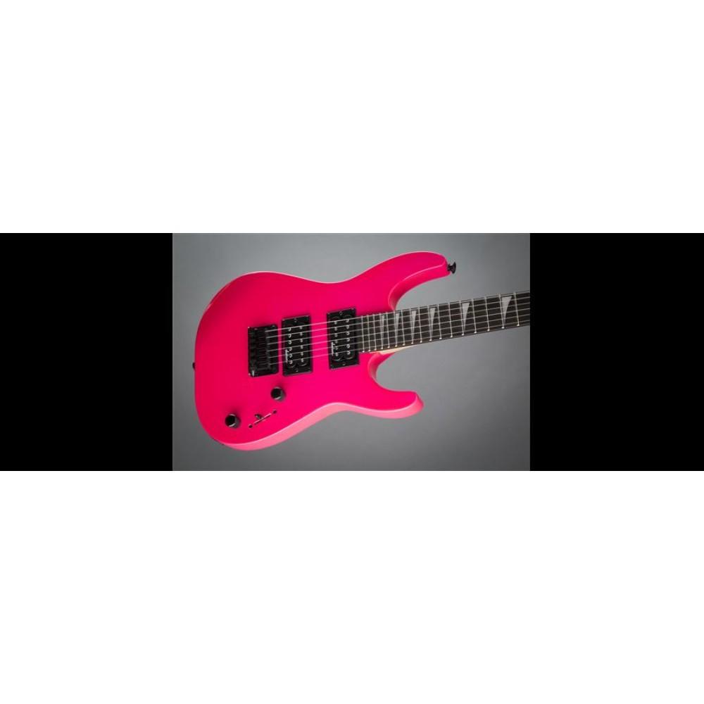 jackson dinky minion neon pink js1x 22 5 scale mini electric guitar 2912222519. Black Bedroom Furniture Sets. Home Design Ideas