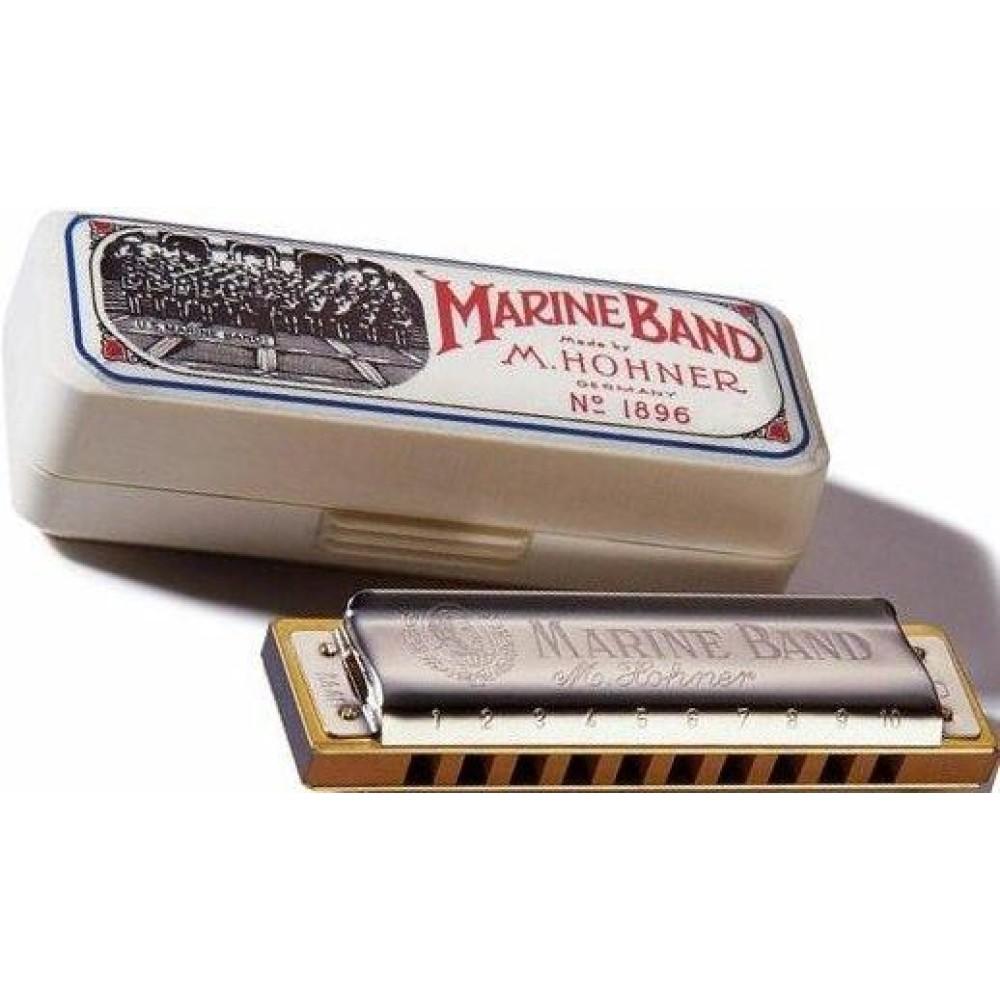 hohner marine band harmonica 1896bx in the key of c bonus hohner mini harp. Black Bedroom Furniture Sets. Home Design Ideas