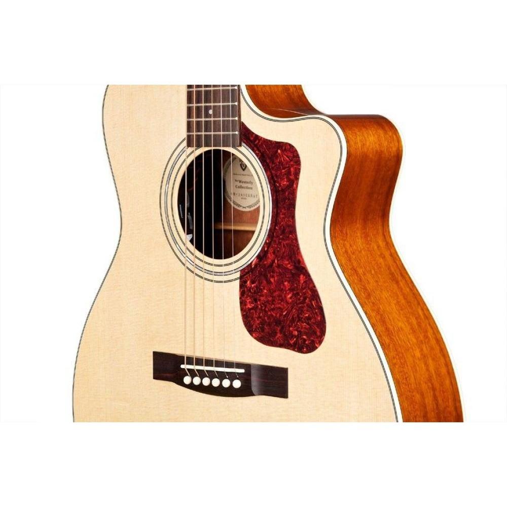 guild om 140ce acoustic electric orchestra solid wood guitar case blem. Black Bedroom Furniture Sets. Home Design Ideas