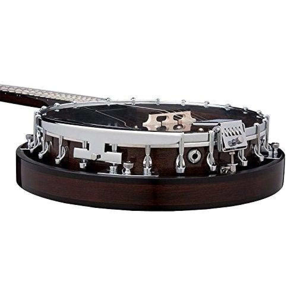 dean backwoods 2 acoustic electric 5 string mahogany banjo model bw2e. Black Bedroom Furniture Sets. Home Design Ideas