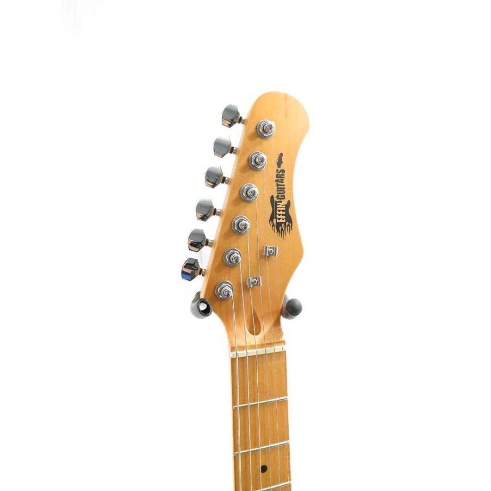 effin guitars model oldstart sfg sonic blue finish deluxe electric guitar. Black Bedroom Furniture Sets. Home Design Ideas
