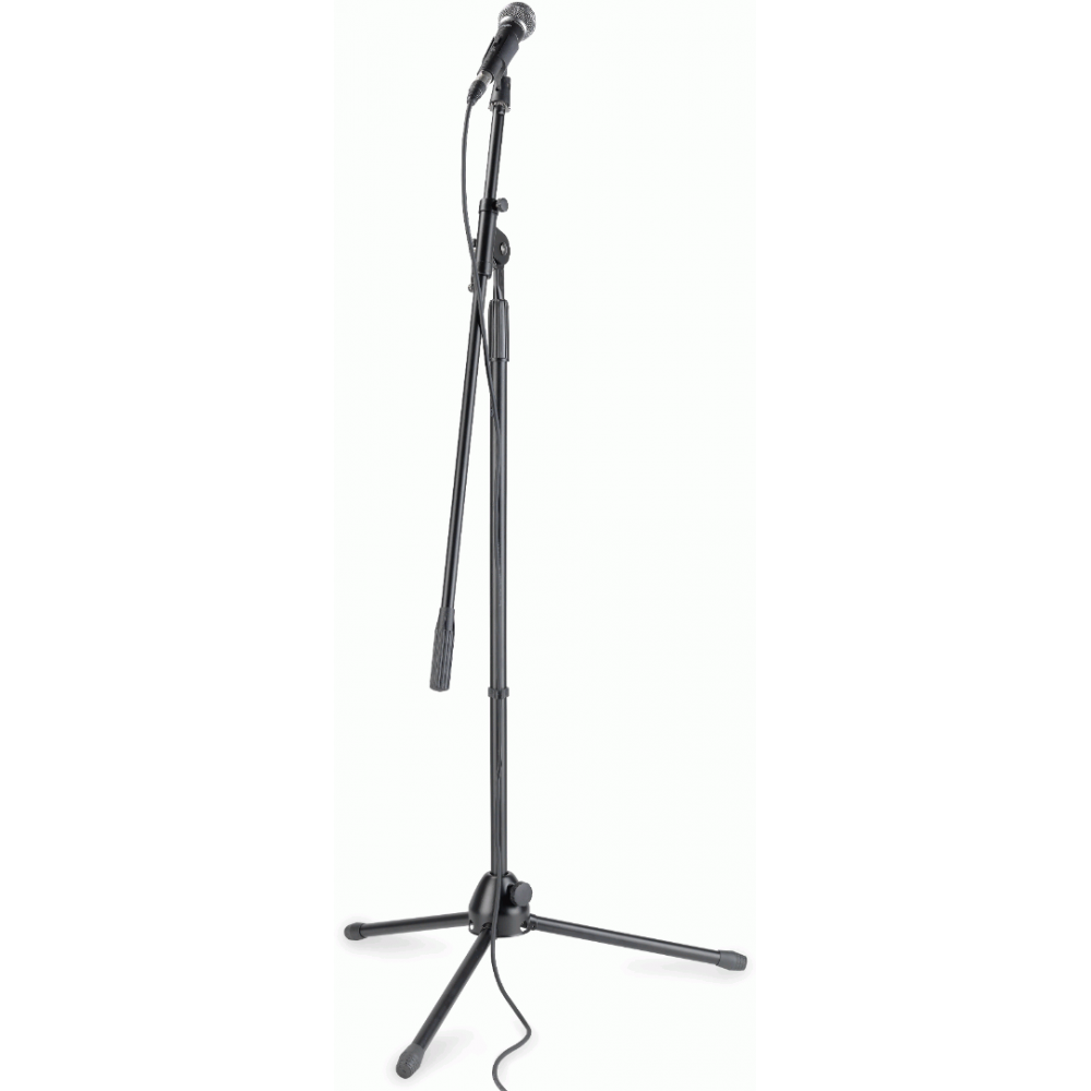 Rubber Clamp and Gig Bag Included Cable Stagg SDM50 Performer Dynamic Microphone Set with Boom Stand