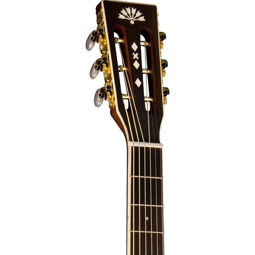 washburn model wp21sens acoustic electric solid cedar top parlor size guitar. Black Bedroom Furniture Sets. Home Design Ideas