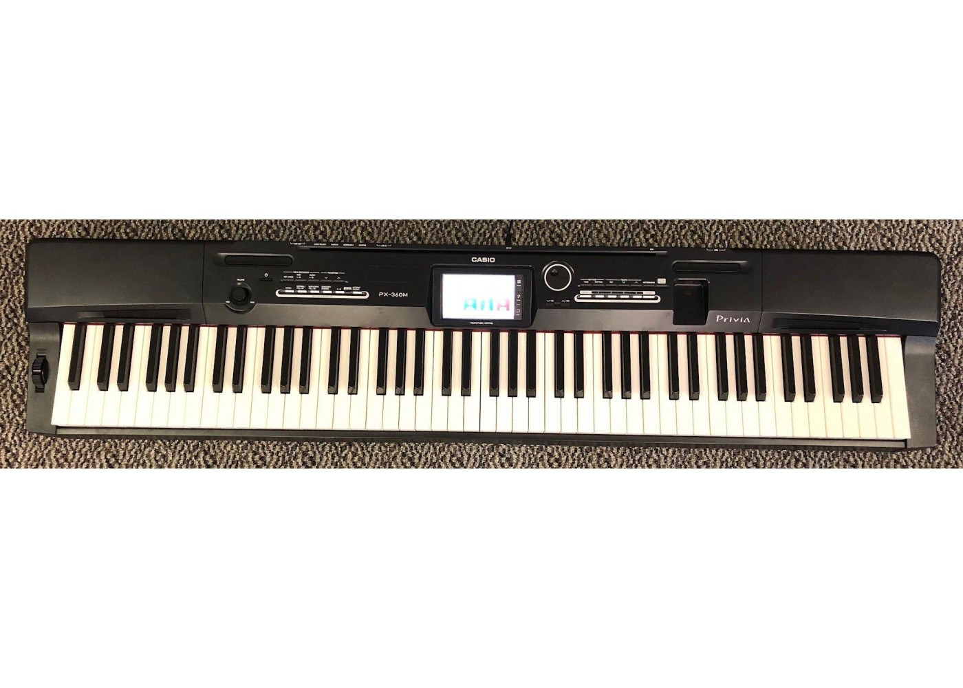 casio model px360bk 88 weighted key digital piano keyboard as is n267. Black Bedroom Furniture Sets. Home Design Ideas