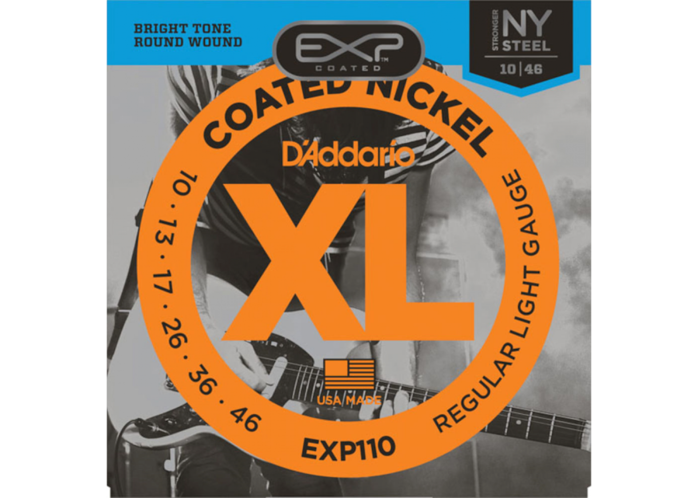 d 39 addario exp110 coated electric guitar strings light 10 46. Black Bedroom Furniture Sets. Home Design Ideas