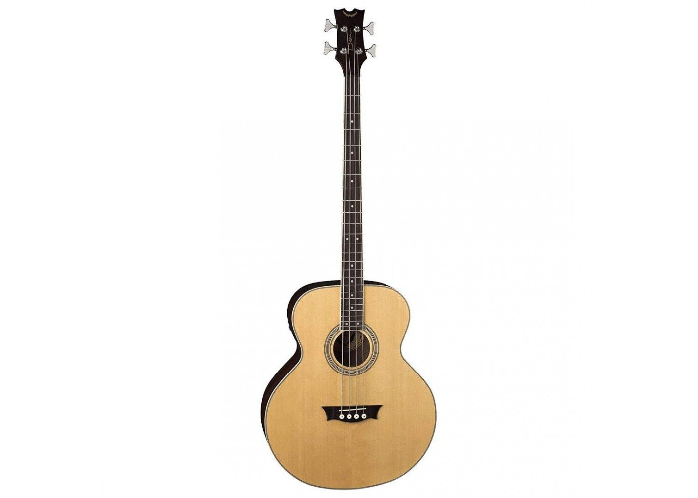 dean natural gloss acoustic electric 4 string bass guitar 34 scale eab. Black Bedroom Furniture Sets. Home Design Ideas