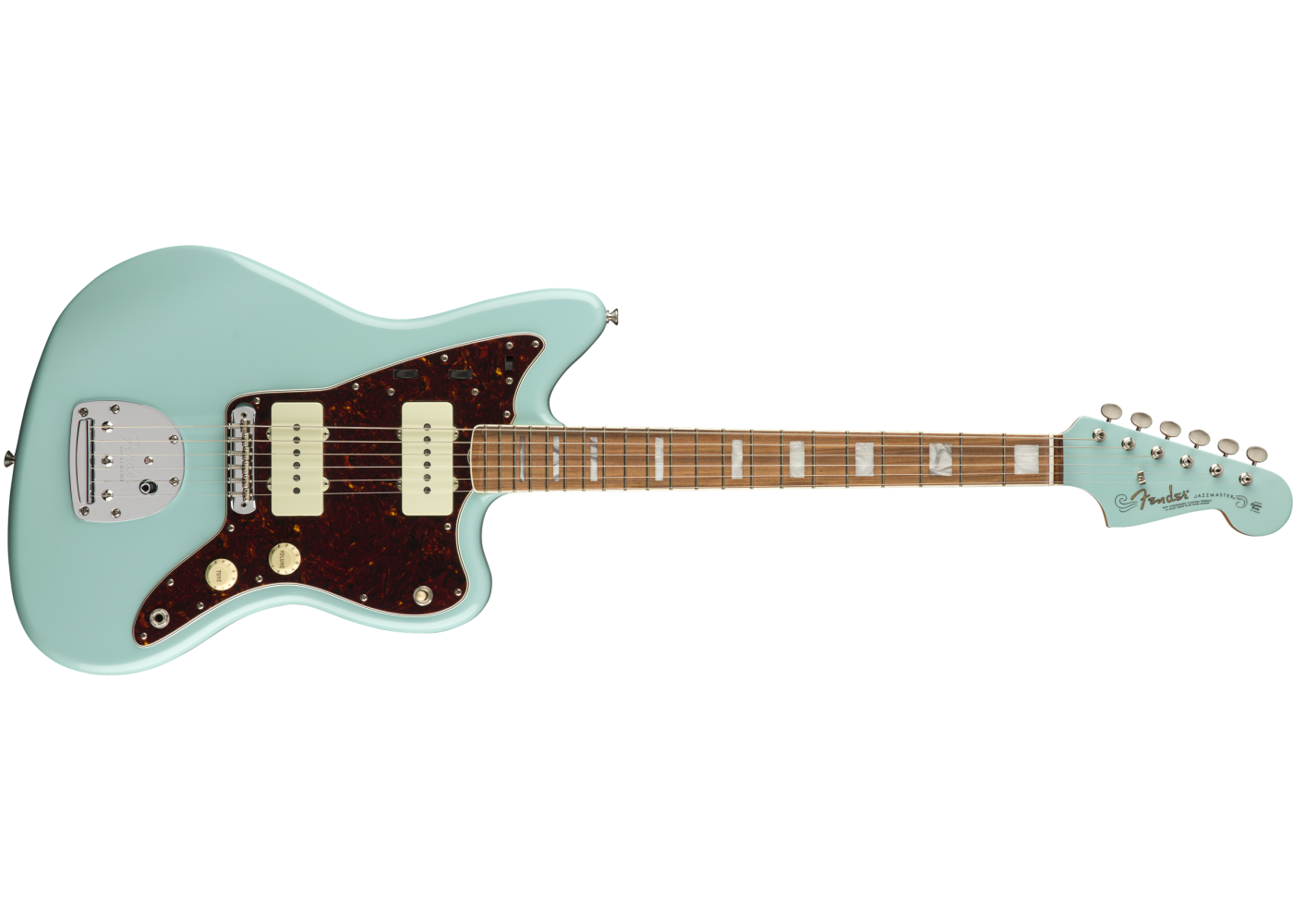 fender limited 60th anniv classic jazzmaster daphne blue electric guitar w case. Black Bedroom Furniture Sets. Home Design Ideas
