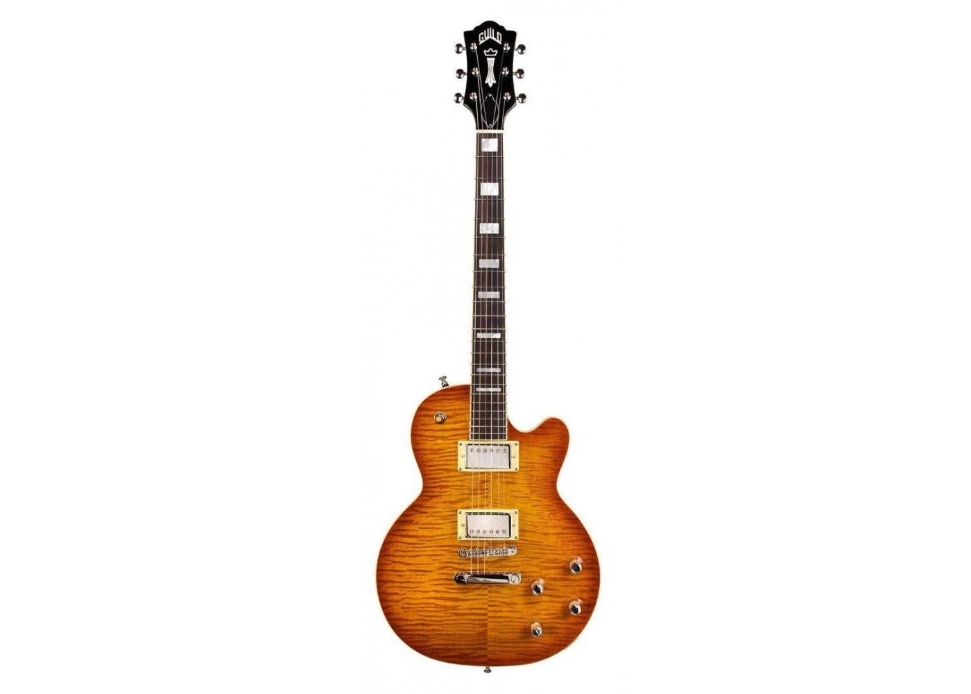 Guild Guitars Bluesbird ITB Ice Tea Burst Electric Guitar With Gig Bag BlemJ70