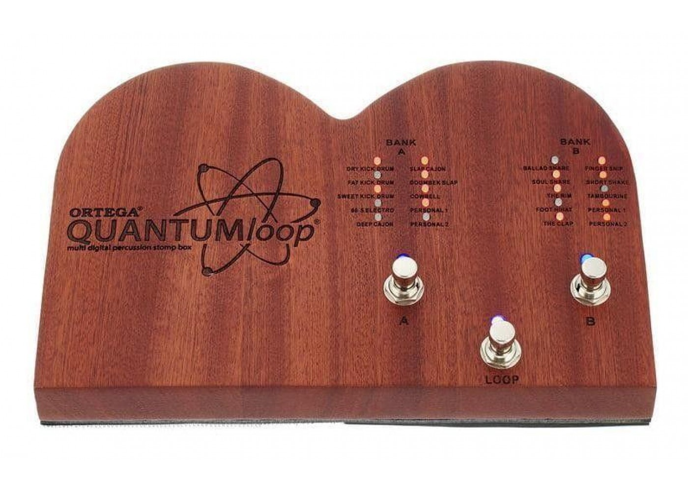 Ortega Model QuantumLoop Multi Digital Percussion Stomp Box And Looper Pedal