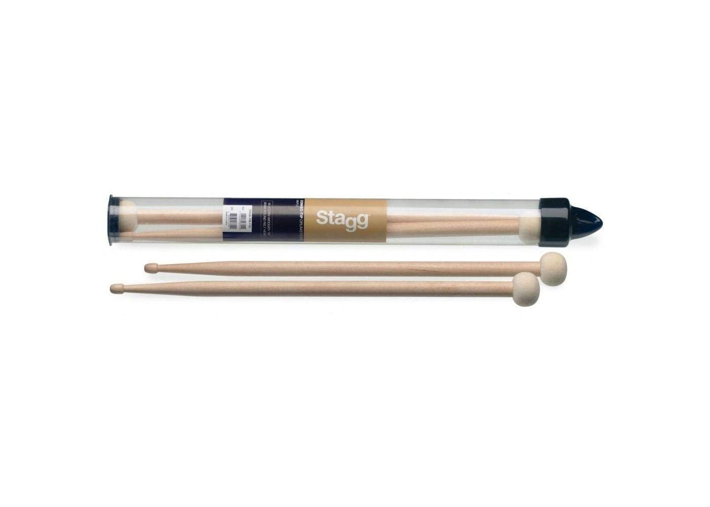Stagg Sm5a Tim F30 Pair Of Maple Combo Tip Drumsticks With Wooden And Round Felt Head