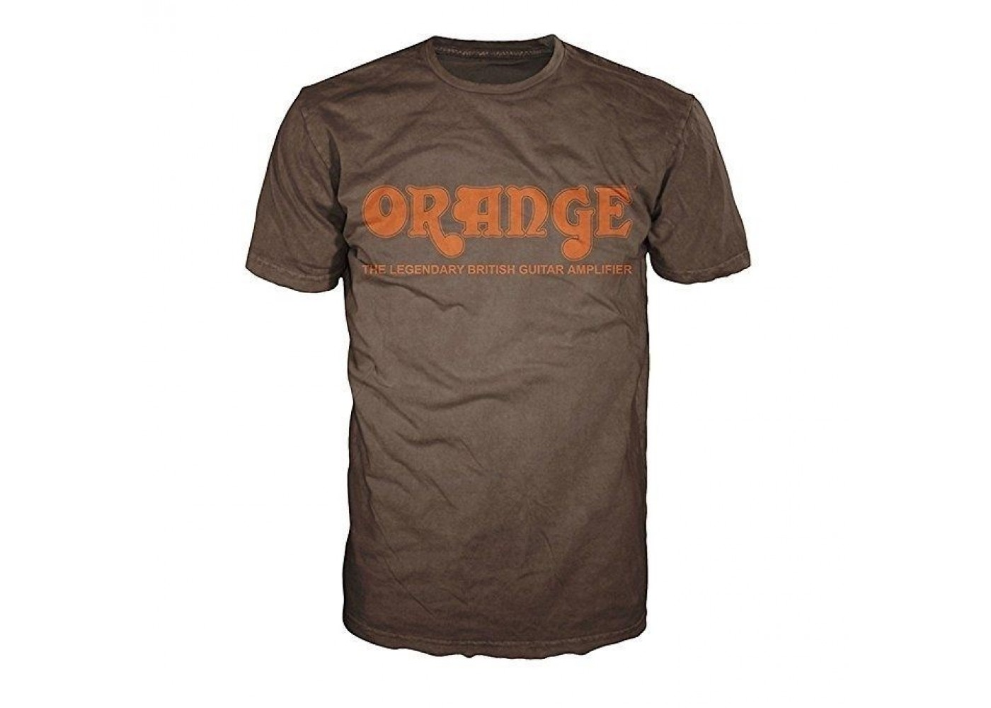 orange amplifiers brown retro logo fitted 100 cotton t shirt men 39 s small new. Black Bedroom Furniture Sets. Home Design Ideas