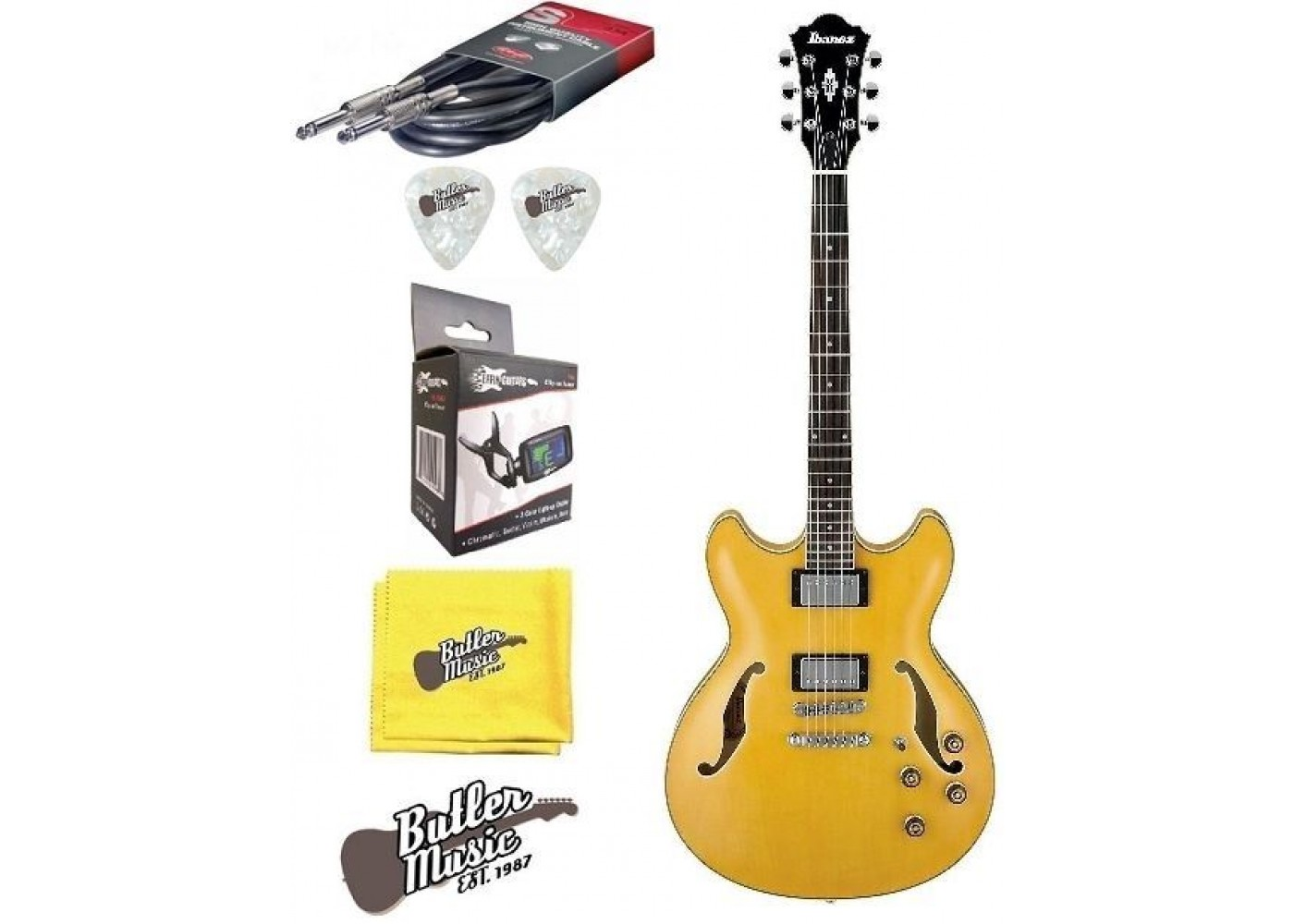 ibanez as73aa semi hollow body electric guitar w effin tuner more. Black Bedroom Furniture Sets. Home Design Ideas