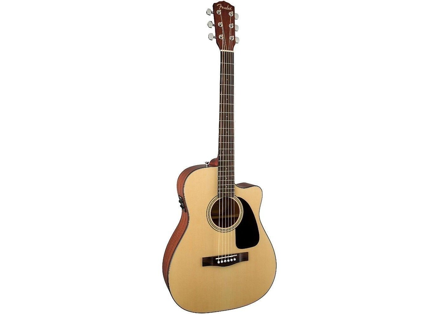 fender cf 60ce nat folk size acoustic electric guitar with hardshell case