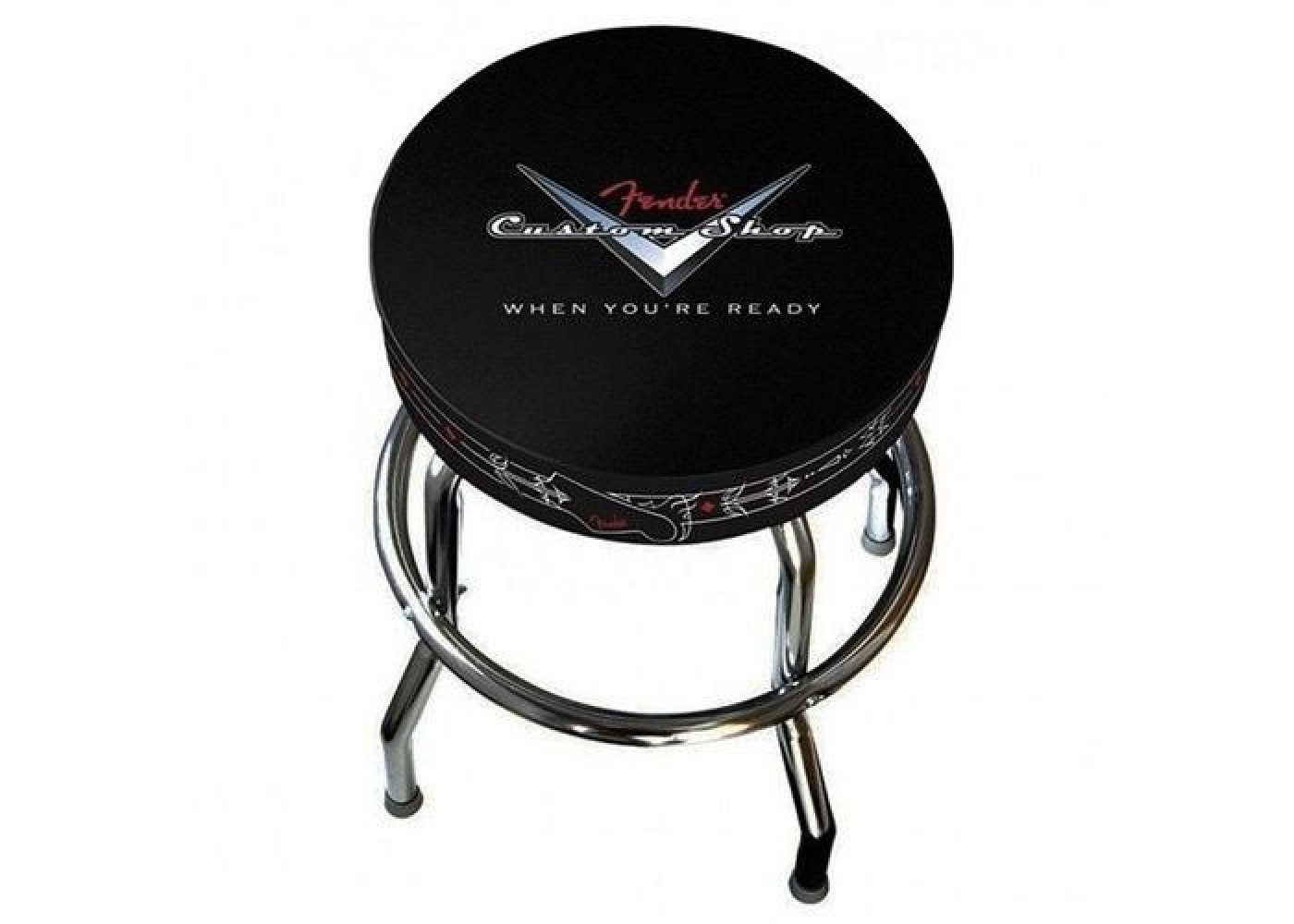 Groovy Fender Guitars Custom Shop Black 24 Inch Barstool W Padded Seat 0990230020 New Camellatalisay Diy Chair Ideas Camellatalisaycom