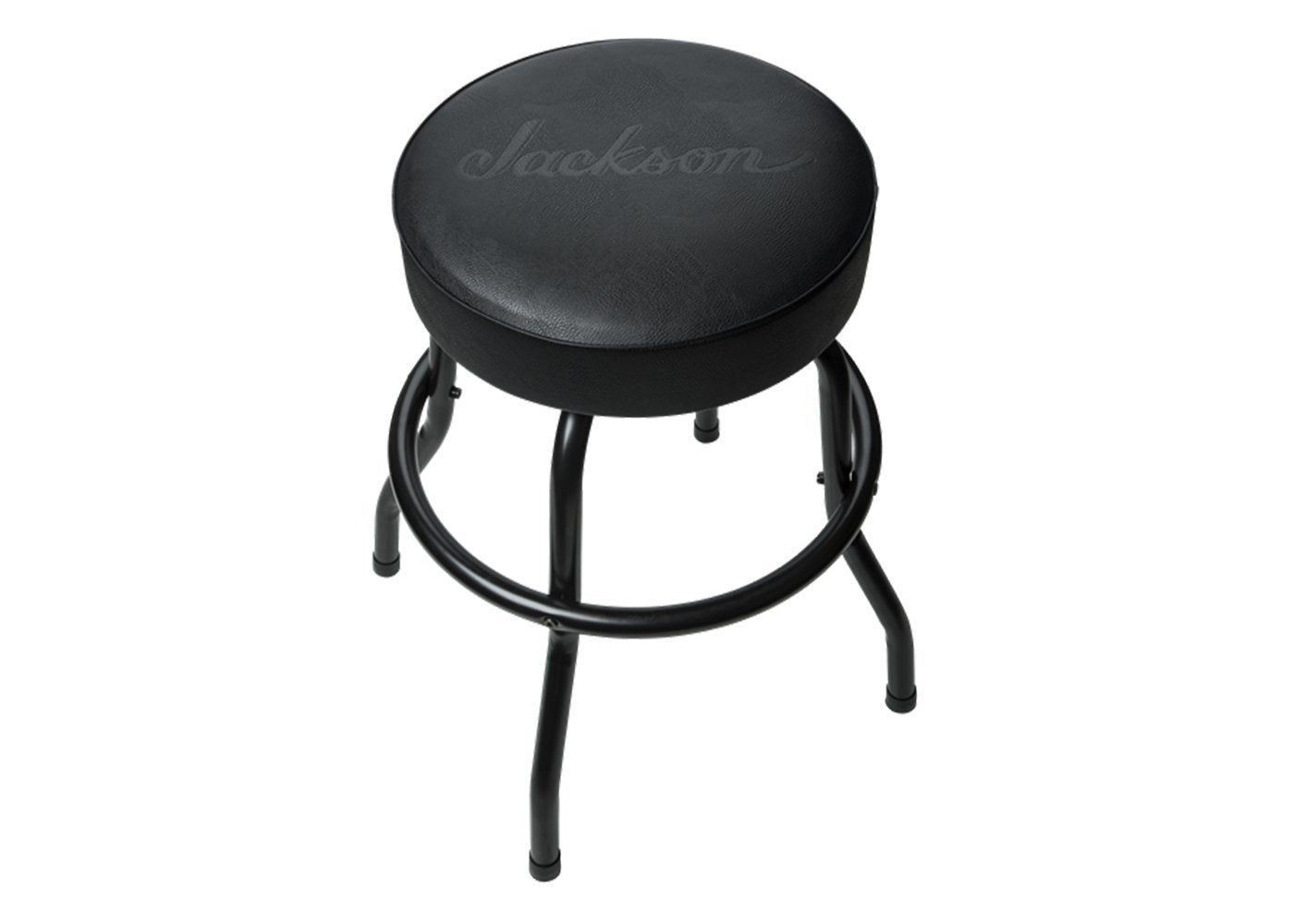 Jackson Guitars 24 Quot Black Logo Bar Stool Vinyl Padding